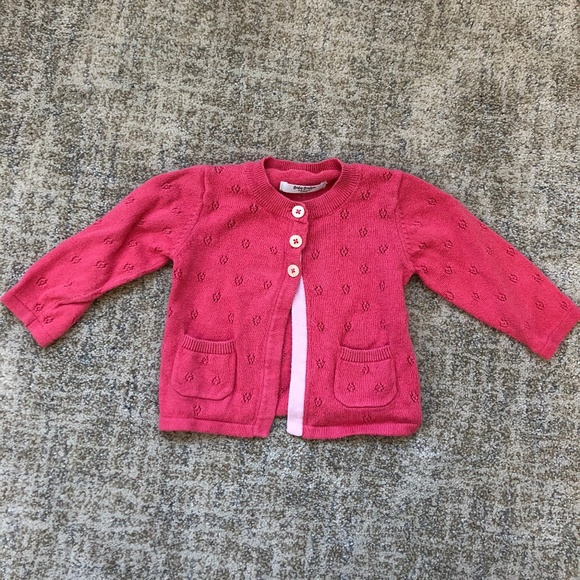 a7ab18c91732 Mini Boden Baby Girl Pink Pointelle Cardigan